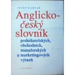 Karvaš Jozef - Anglicko-český slovník podnikatelských, ...