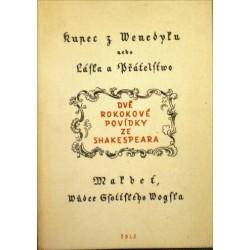 Shakespeare William - Kupec z Venedyku nebo Láska a přátelstvo