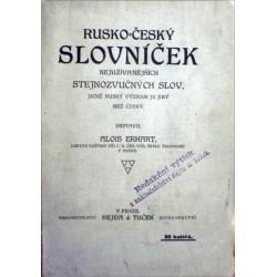 Erhart Alois - Rusko-český slovníček nejužívanějších ...