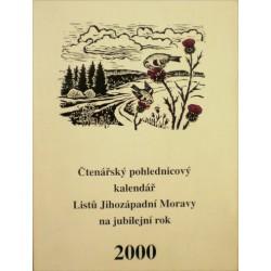 různí autoři - Čtenářský pohlednicový kalendář Listů Jihozápadní.