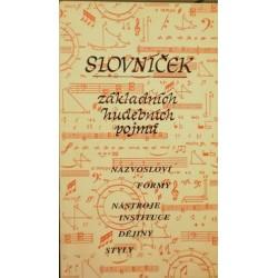 Vrkočová Ludmila - Slovníček základních hudebních pojmů
