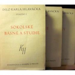 Hlaváček Karel - Sokolské básně a studie I.- III.