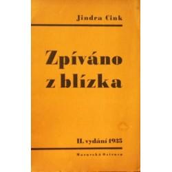 Cink Jindra - Zpíváno z blízka